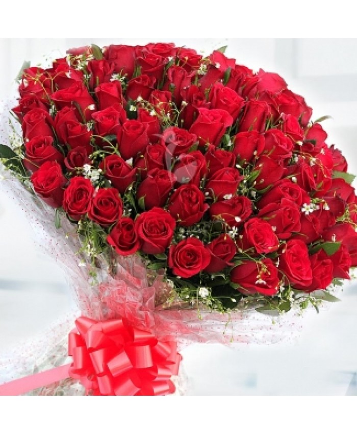 Bunch Of 100 Red Rose