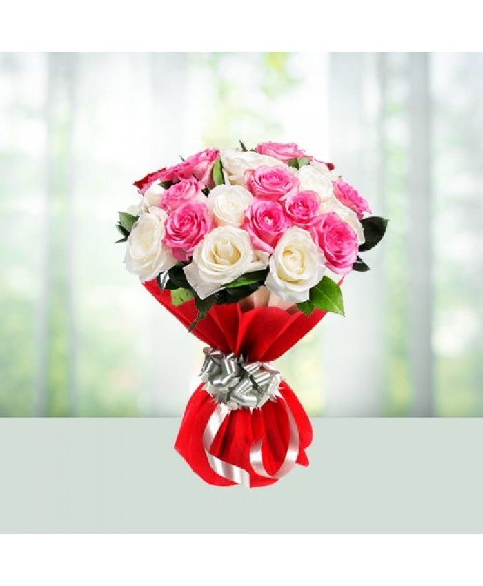 Pink and white rose Bouquet