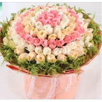 100 Mixed Color Rose hand bunch