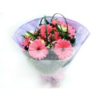 Bunch of 8 gerbera Flowers