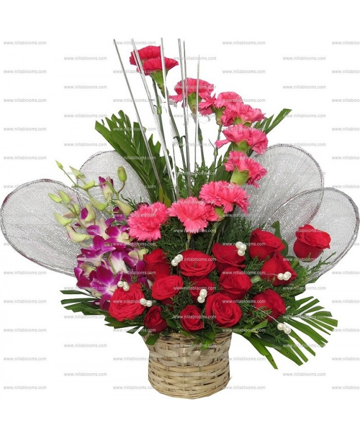 Send Wedding Anniversary Gift & Flowers Bouquet to Coimbatore Online
