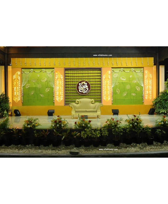 Wedding stage flower decoration in coimbatore india for Different types of wedding decorations