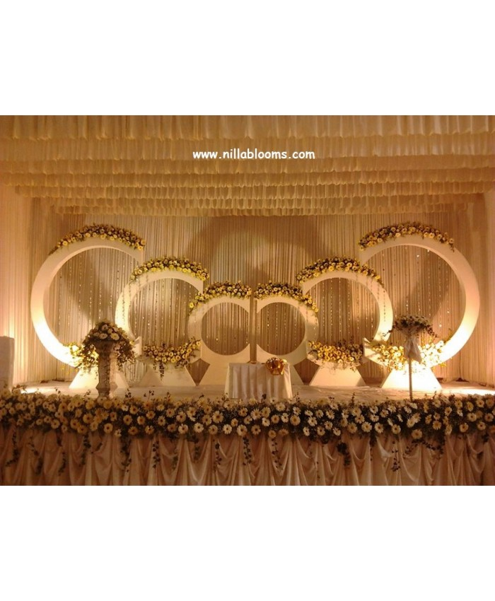 Wedding Stage Flower Decoration In Coimbatore India