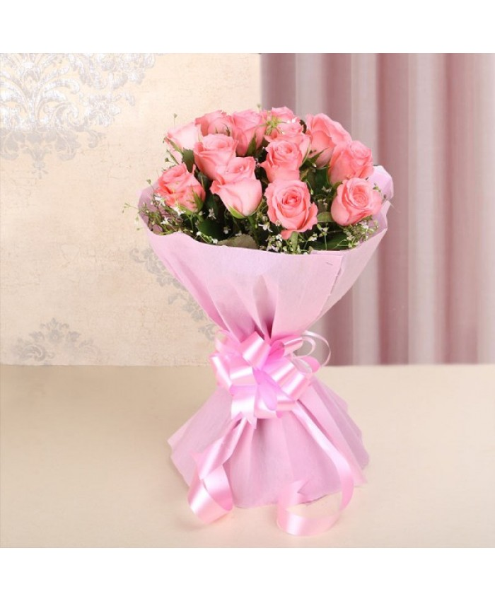 20 pink rose bouquet