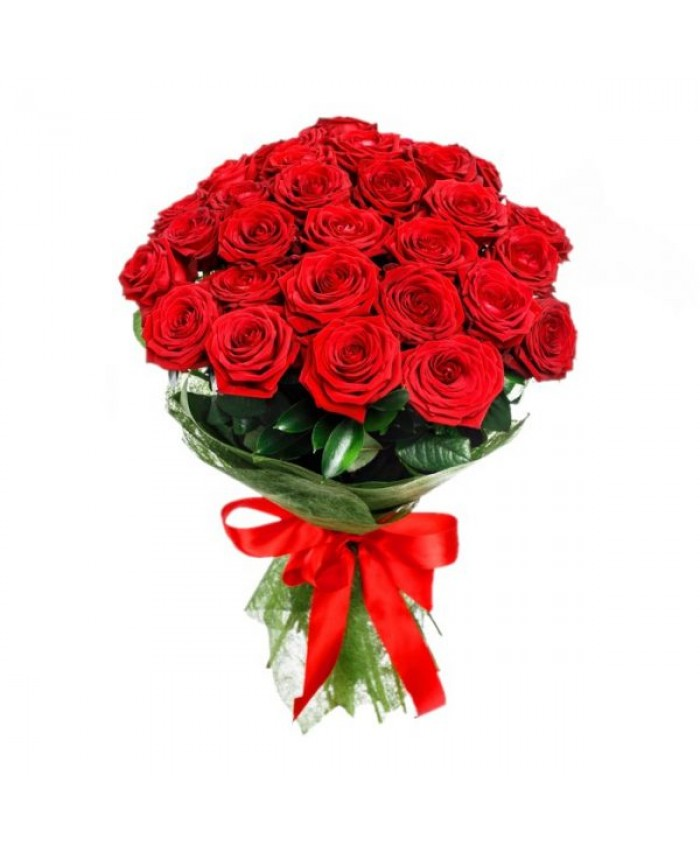 25 red rose bouquet